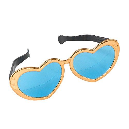 Bristol Novelty GJ339B Jumbo Hart zonnebril, kleurrijk, uniseks volwassenen, meerkleurig, eenheidsmaat