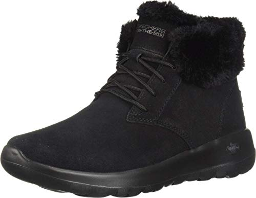 Skechers Women's On-the-go Joy Ankle boots, Black Black Suede Trim Bbk, 7 UK