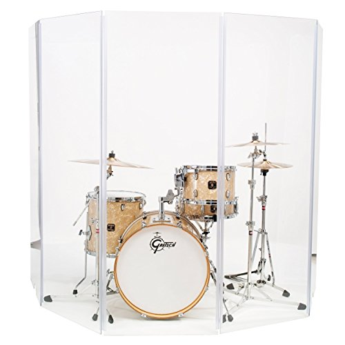 Drum Shield DS4 5 Panels 2 Feet x 5 Feet Chrome Hinges