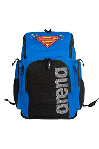 arena Team 45L Swimming Athlete Sports Backpack Training Gear Bag for Men and Women, Superman