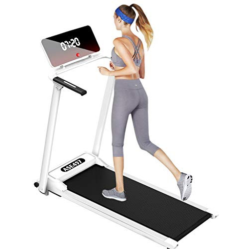 Foldable Electric Running Machine, 2.5HP High Power Folding Treadmill Shock Absorption Adjustable Incline with LCD Display Screen, Device Holder for Indoor Sport Home Gym Office