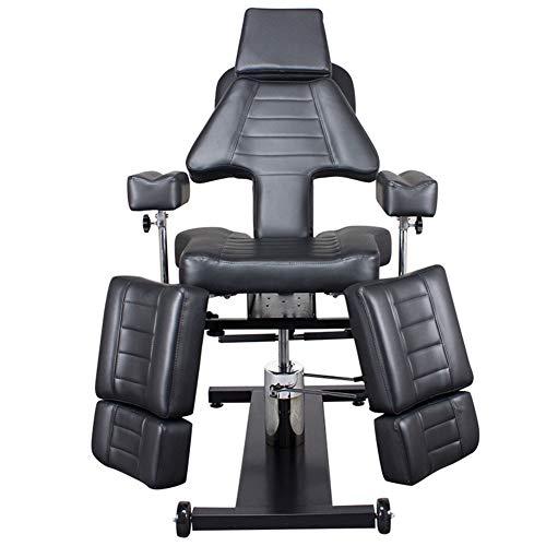 XUE Klappbett Stuhl, Multi-Function Tätowierstuhl Body Bed Lifting Swivel Chair Beauty Tattoo Bed Pattern Eyebrow Bett Bett spezielle Adjustable Detachable Dirt