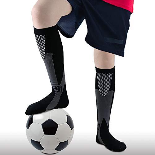 Calcetines de compresión para hombre y mujer, 20-30 mmHg -  Negro -  XL