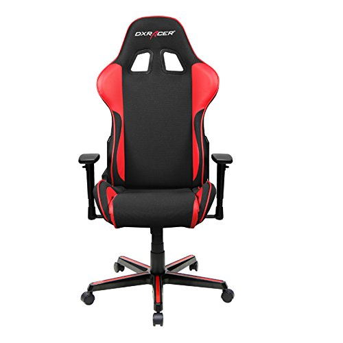 DXRacer FH11/NR Black and Red Formula Series Racing Bucket Seat Office Chair Gaming Ergonomic with Lumbar Support