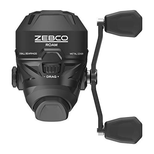 Zebco Roam Black Spincast Reel, ComfortGrip Rod Handle, Instant Anti-Reverse Fishing Reel, Size 30, Model Number: ROAM3BK