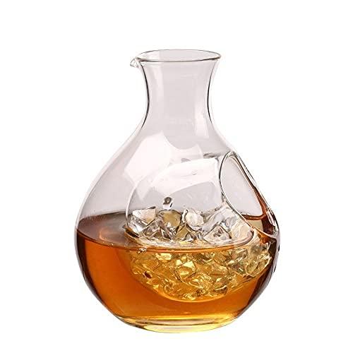 WYBL Sake Pots Sets Vino y Cubitos de Hielo Aislado Vidrio Botella de Vino Botella de Vino Sake Sake Hielo Juego Hamster Nest Hamster Room Room Cerveza Mini Regalo Wine1001 0703 (Color : 260ml)