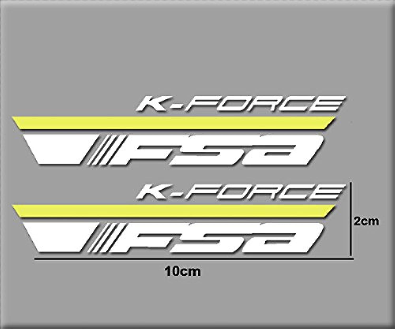 PEGATINAS KIT FSA 6 BIKES R160 VINILO ADESIVI DECAL AUFKLEBER MTB STICKERS BIKE whiteO Y yellow