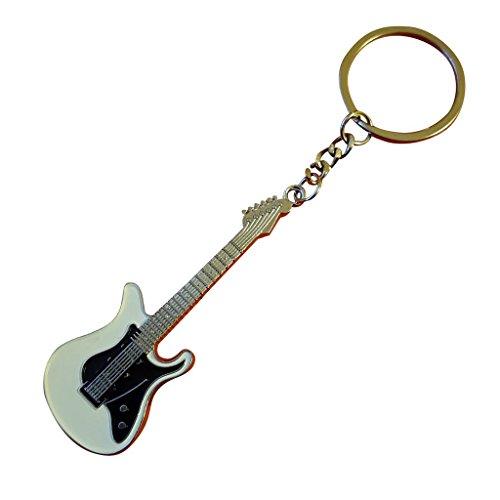 Gitarren Silber Schlüsselanhänger