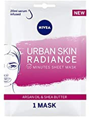 NIVEA Urban Skin Radiance Face Sheet Mask, Argan Oil & Shea Butter, 1 Mask