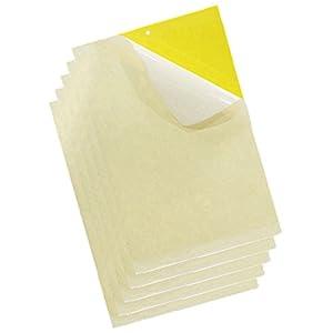 20 Piezas Amarillo Trampas Adhesivas para Moscas Insectos piojos Atrapa Insectos Papel Adhesivo Pegajoso Adhesivo atrapamoscas de Pegamento Decorativa contra la Mosca Tira de Papel (15 * 25cm)