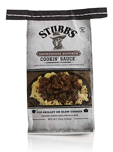 Stubb's Smokehouse Bourbon Cookin' Sauce, Gluten Free, For Skillet or Slow Cooker, Makes 4+ Servings, 12oz (Pack of 3)