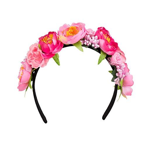 NET TOYS Magnifique Serre-tête à Fleurs - Rose - Ravissant...