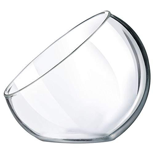 Mini half-bubble con forma de plato de postre ( Material: vidrio templado. Diseño exclusivo de Slanted Ideal para presentar tasters en fiestas Apto para servir Entrees, aperitivos o postres.