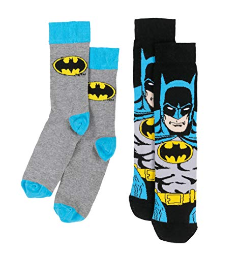 U Wear Ltd Chaussettes homme DC Comics Batman 2 paires