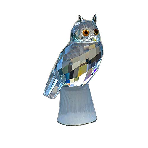 Crystal Owl Figurines Paperweight Craft Art&Collection Car Ornaments Souvenir Home Wedding Decor