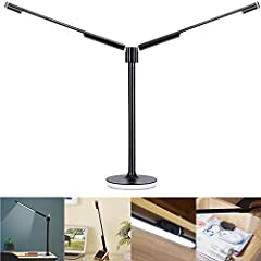 ☑Modular Design: This desk lamp adopts modular design assembled by 4 parts: Lamp Base, Lamp Arm, and Dual Light Tube. The LED bar can be disassembled and used as a flashlight, under cabinet light or wall hanging light with provided stick holder. ☑Dua...