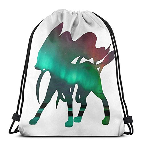 Suicune Gebrauchte Aurora Beam Sport Sackpack Kordelzug Rucksack Gym Bag Sack