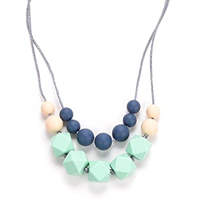 "best organic teething necklace for mom"" border="