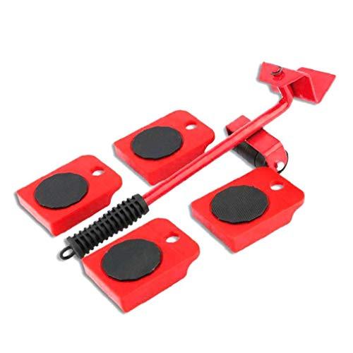 ZYCX123 Schwere Möbel Shifter Lifter Räder bewegen Kit Slider Mover Easy Move Entfernen Red Ferien GFT