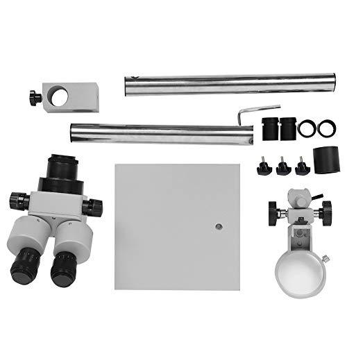 Microscopio estereoscópico binocular de ajuste de joyería, lupa de microscopio estéreo binocular de zoom continuo 7X-45X para procesamiento de ajuste de joyería
