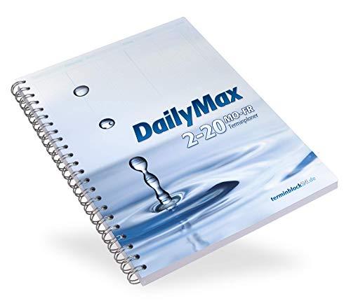 DailyMax 2/20 Terminplaner Praxisplaner - 2 Spalten, 7-20 Uhr im 10- bzw. 20-Minuten-Takt Montag-Freitag, Wochenplaner für Praxis, Studio, Salon und Klinik …