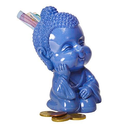 trendaffe Baby Buddha Spardose in blau - Baby-Buddha Sparbüchse Sparschwein