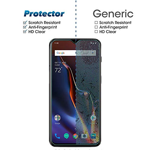 Widamin 2Pack, Screen Protector Compatible with Oneplus 7 /6T, Premium Tempered Glass with 9H Hardness, 2.5D Round Edge, [Crystal Clearity], [Scratch-Resistant], [No-Bubble] For Oneplus 7