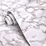 DURABLE AND WATERPROOF: Premium countertop film gives you extra thickness and sturdiness, which is waterproof & moisture-proof & oil proof, easy to take care of daily, and delicate marble effect surface makes it looks more realistic and natural no fa...