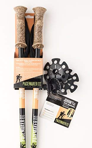 PaceMaker Stix Journey Anti Shock Trekking Poles Pair for Walking, Hiking, Climbing. Ultralight Aluminum Adjustable Height & Telescoping Sticks with Synthetic Cork Grips, and Replaceable Tungsten Tips