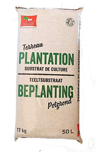 La Plaine Chassart   Terreau Plantation   sac de 50L   Substrat De Culture   Amendement de Sol   Paillage   Parc, Jardin, Terrasse   Arbres, Arbustes, Conifères, Rocailles, Rosiers