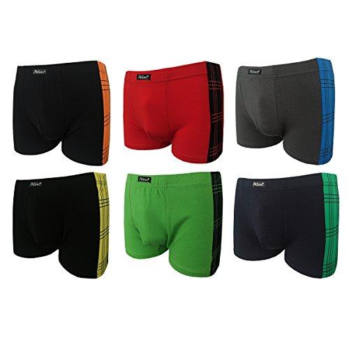 2|4|5|6|9|12 Boxershorts Herren Pesail Retroshorts Unterhosen Unterwäsche Retropants Männer in Klassischen Farben aus Baumwolle Gr.M 5 L 6 XL 7 2XL 8 3XL (XL, 6er)