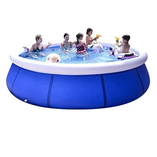 Piscina hinchable para niños al aire libre grande piscina para adultos grande piscina plegable gran espacio para acomodar (color: azul, tamaño: 360 x 76 cm)