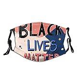 Hands Up Don't Shoot Blm Black Lives Matter Print Mascarilla Pasamontañas reutilizable, Cute Blm, 5.9x7.9 Inch
