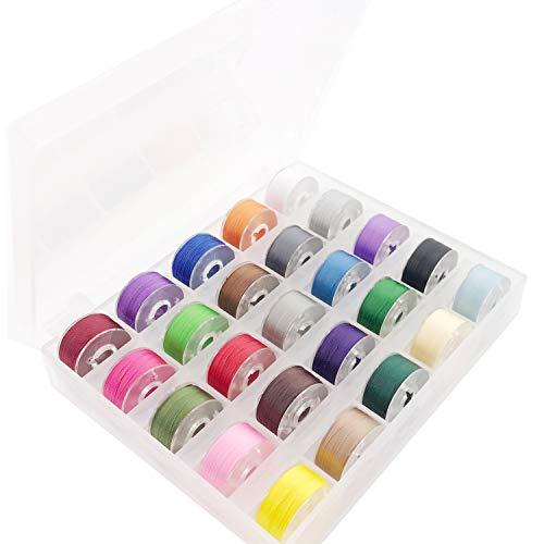 New brothread 25pcs Colores Variados 70D/2 60WT bobina