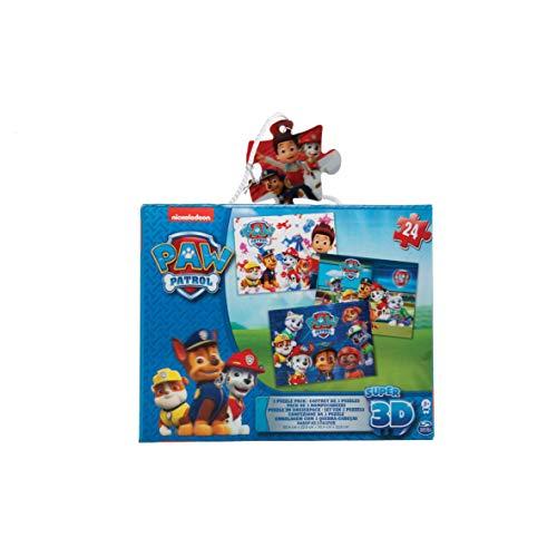Kardinal - 6033115 - Box met 3 puzzels - Afbeeldingen met 3D-effect - Paw Patrol