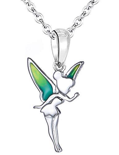 Tinkerbell Fee Halskette & Anhänger – S925 Sterling Silber – Weihnachtsfee