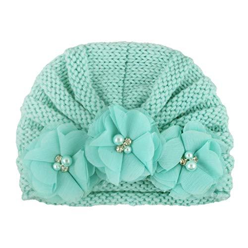 Allegorly 12 Couleurs Style Indien Noeuds Bonnet Bébé, Mode Chapeau Bandeau Turban Noeud Mou Tête Wraps pour Bébé Filles Bonnet Nouveau-Né Tout-Petits pour 0-2 Ans (H)