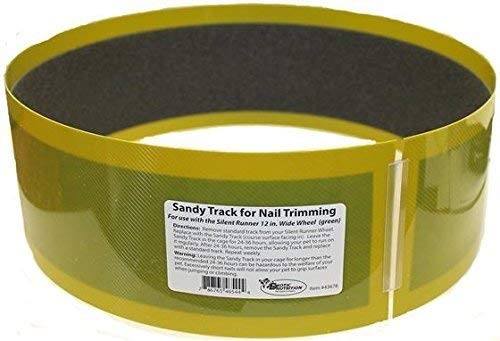"""Exotic Nutrition Sandy Track - for Green Silent Runner 12"""" Wide - Textured Nail Trimming Track for Pet Exercise Wheel"""