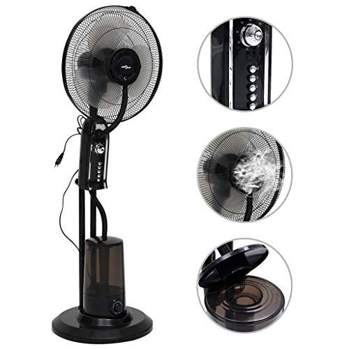 vidaXL Ventilateur Brumisateur sur Pied 3 Vitesses Humidificateur Salon Salle de Séjour Chambre à Coucher Maison Intérieur Portable Noir