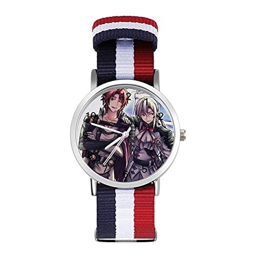 Seraph - Reloj de cristal con escala de espejo trenzado, informal, adecuado para oficina, escuela, hombres y mujeres