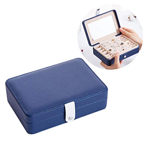 Small Portable Jewelry Storage Case for Necklaces Bracelets Earrings Rings - Faux Leather Travel Jewelry Organizer Box,Jewelry Box Organizer for Women
