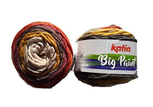 Katia Big Paint - Ovillo de lana (100 g/aprox. 100 m de lana)