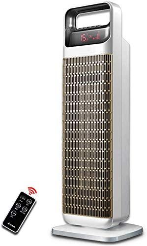 Kücheks Calentador de Ventilador de Torre oscilante - Eléctrico 2KW - Cerámica PTC - Termostato, Pantalla LED, Calentadores de convección portátiles con Temporizador y Control Remoto - 2000W