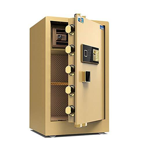 ZHBD Caja Fuerte Electronica Acero Teclado electrónico Digital de Alta prioridad 2 Llaves manuales for Proteger el hogar o el Negocio de la joyería Dinero Pasaporte Fijaciones para Paredes y Suelos