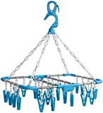 Foldable Drying Laundry Hanger with Clips for Clothes Masks Bras Lingerie   26 Clips by Jen and Emily of Laundry Science