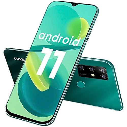 Smartphone Offerta Del Giorno, DOOGEE X96 Pro 6,52  Waterdrop Schermo Android 11 Telefoni Cellulari, 5400 mAh, 4GB + 64GB Octa-core Cellulari Offerte, 13 MP Quad Camera, Dual SIM, GPS, OTG (Verde)