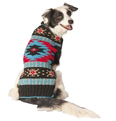 Chilly Dog BLACK SOUTHWEST Dog Sweater, Large