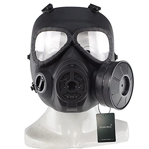 WISEONUS Mascara Táctico Máscara de Gas antiniebla simulada con el Equipo de protección Airbal de Airsoft Paintball