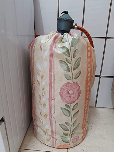Funda para bombona de butano tela flores