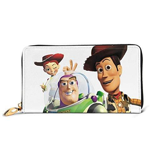 Toy Story - Cartera de piel con cremallera para guardar monedas, para teléfonos móviles, tarjetas de crédito y monedas, para hombres y mujeres